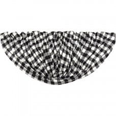 Annie Buffalo Black Check Balloon Valance