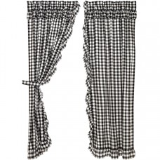 Annie Buffalo Black Check Ruffled Panel Set