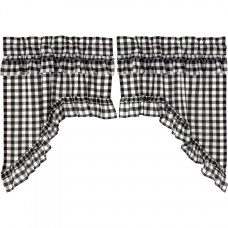 Annie Buffalo Black Check Ruffled Swag Set
