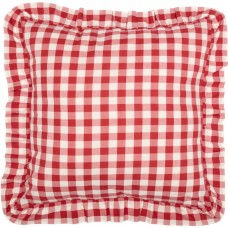 Annie Buffalo Red Check Fabric Euro Sham