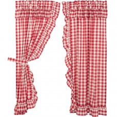 Annie Buffalo Red Check Ruffled Short Panel Set