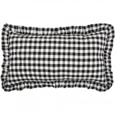 Annie Buffalo Black Check Ruffled King Sham