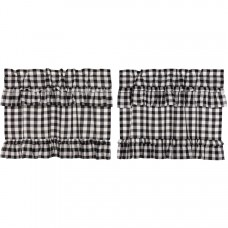 Annie Buffalo Black Check Ruffled Tier Set