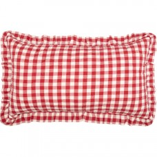 Annie Buffalo Red Check Ruffled King Sham
