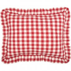 Annie Buffalo Red Check Ruffled Standard Sham