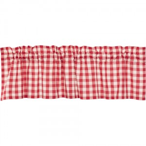 """Annie Buffalo Red Check Valance 60"""""""