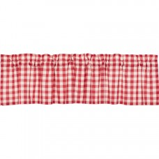 Annie Buffalo Red Check Valance 72""