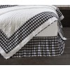 Annie Buffalo Black Check Bed Skirt
