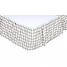 Annie Buffalo Grey Check Bed Skirt