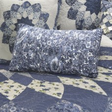Azure Dahlia Rectangle Pillow