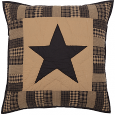 Black Check Star Euro Sham