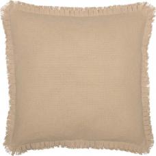Burlap Vintage Fabric Euro Sham