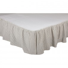 Hatteras Seersucker Blue Ticking Stripe Bed Skirt