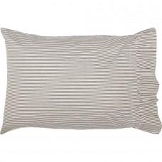 Hatteras Seersucker Blue Ticking Stripe Standard Pillow Case Set