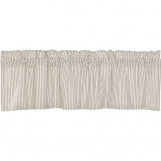 Hatteras Seersucker Blue Ticking Stripe Valance 60""