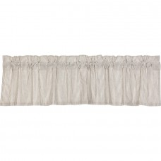 Hatteras Seersucker Blue Ticking Stripe Valance 72""