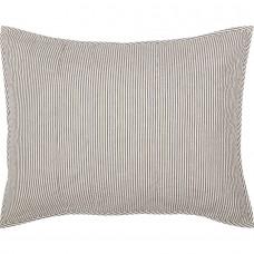 Hatteras Seersucker Blue Ticking Stripe Standard Sham