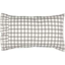Annie Buffalo Grey Check Pillow Case Set