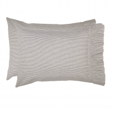 Dakota Star Farmhouse Blue Ticking Stripe Standard Pillow Case Set