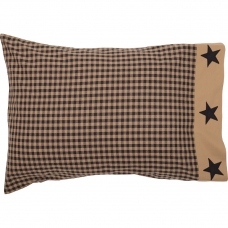 Black Check Star Standard Pillow Case Set