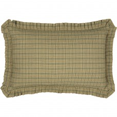 Tea Star Plaid Pillow