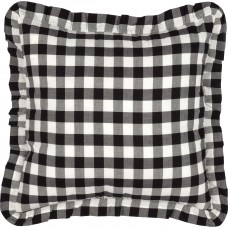 Annie Buffalo Black Check Fabric Pillow