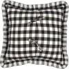 Annie Buffalo Black Check Fabric Pillow