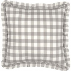 Annie Buffalo Grey Check Fabric Pillow