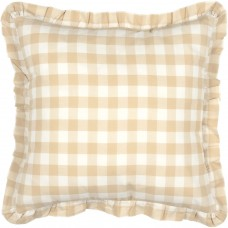 Annie Buffalo Tan Check Fabric Pillow