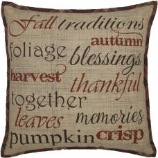 Abilene Harvest Stenciled Pillow