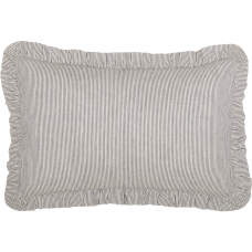 Dakota Star Farmhouse Blue Ticking Stripe Fabric Pillow