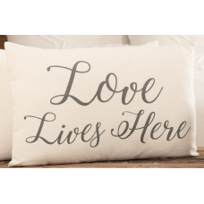 Casement Natural Love Lives Here Pillow