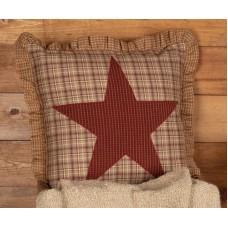 """Dawson Star Applique Pillow 18"""""""