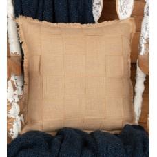 Jute Burlap Basket Weave Pillow