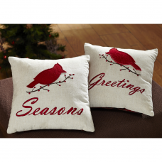 Seasons Greetings Pillow Set