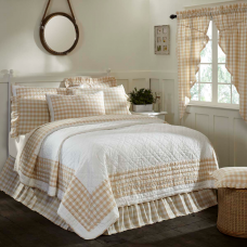 Annie Buffalo Tan Check Quilt
