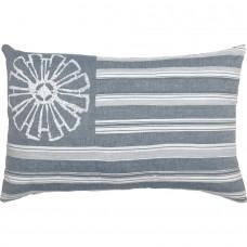 Sawyer Mill Blue Flag Pillow