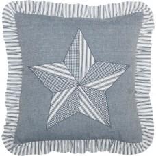 Sawyer Mill Blue Barn Star Pillow
