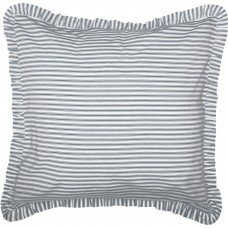 Sawyer Mill Blue Ticking Stripe Fabric Euro Sham