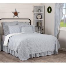 Sawyer Mill Blue Ticking Stripe Quilt