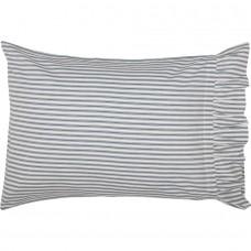 Sawyer Mill Blue Ticking Stripe Standard Pillow Case Set