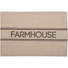 Sawyer Mill Charcoal Farmhouse Placemat Set