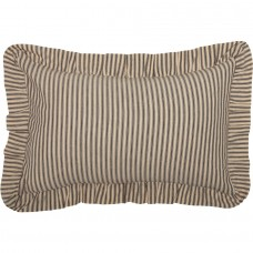 Sawyer Mill Charcoal Ticking Stripe Fabric Pillow