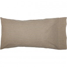 Sawyer Mill Charcoal Ticking Stripe King Pillow Case Set