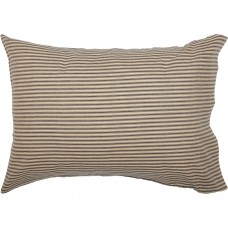 Sawyer Mill Charcoal Ticking Stripe Standard Pillow Case Set