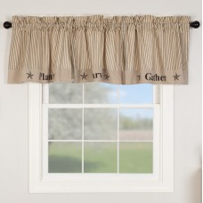 Sawyer Mill Charcoal Gather Valance 90""