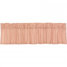 Sawyer Mill Red Ticking Stripe Valance 72""