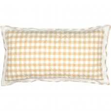 Annie Buffalo Tan Check Luxury Sham