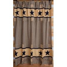 Jamestown Black and Tan Shower Curtain
