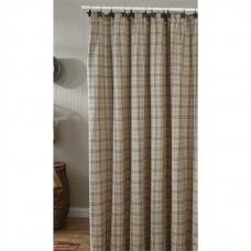 Fieldstone Plaid Black Shower Curtain